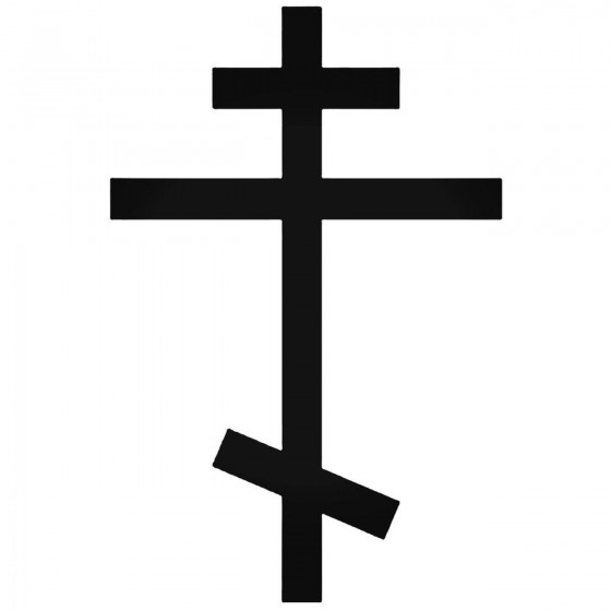 Ortodox Cross Symbol Decal...
