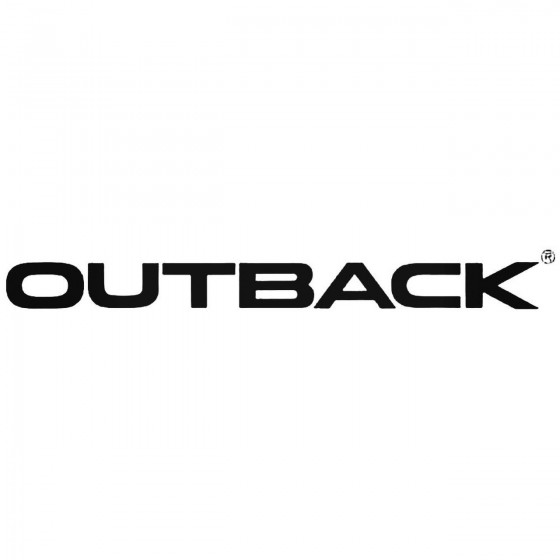 Outback Graphic Decal Sticker