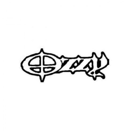 Ozzy Name Car Decal Sticker