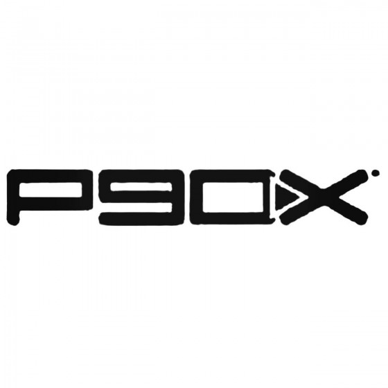 P90x 2 Pack Decal Sticker