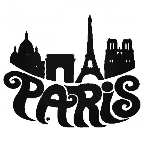 Paris Retro V1 Decal Sticker