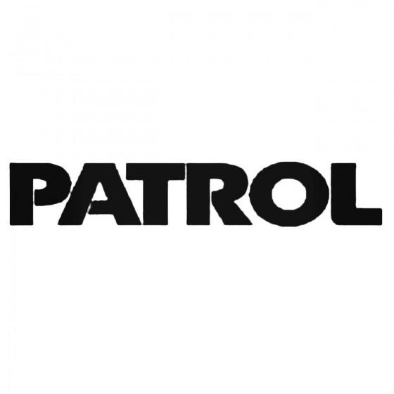 Patrol Decal Sticker