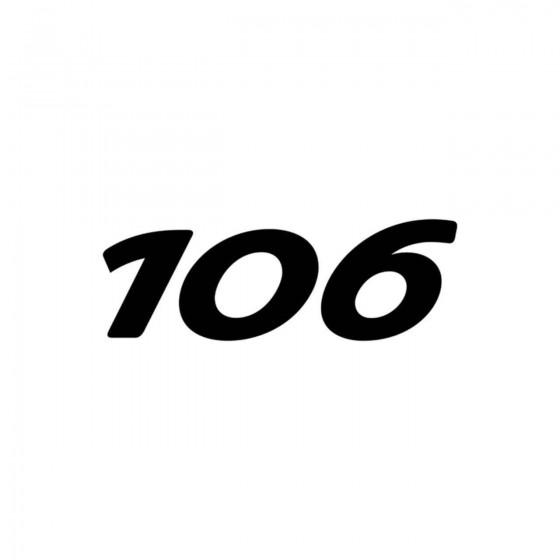 Peugeot 106 Vinyl Decal...