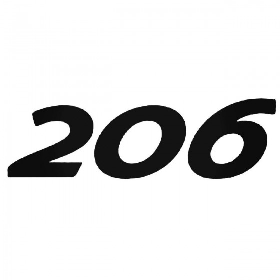 Peugeot 206 Decal Sticker