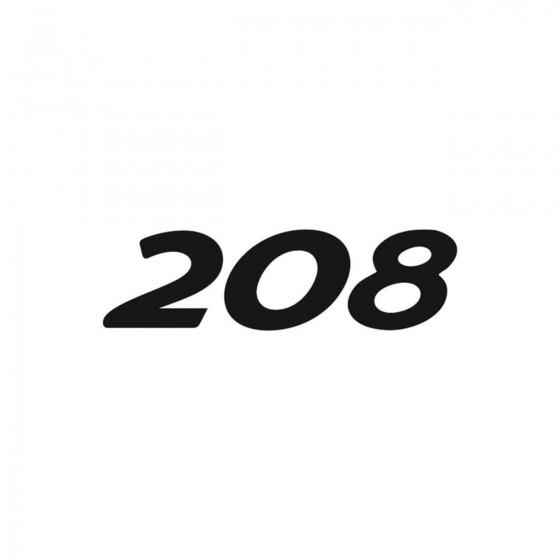 Peugeot 208 Vinyl Decal...