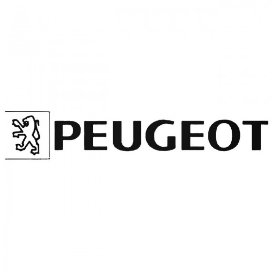 Peugeot Old Decal Sticker