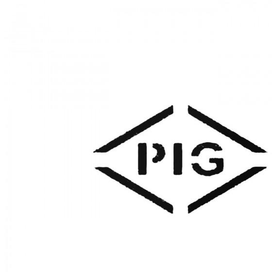 Pig Rock Decal Sticker