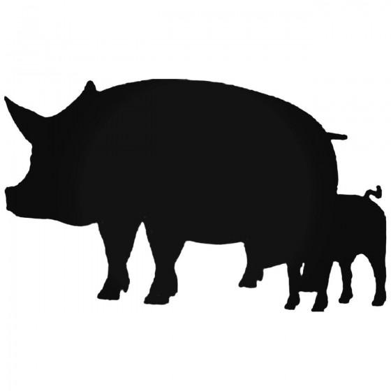 Pigs Decal Sticker