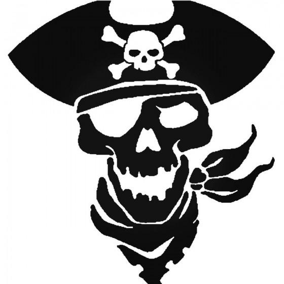 Pirate Skull 17 Decal Sticker