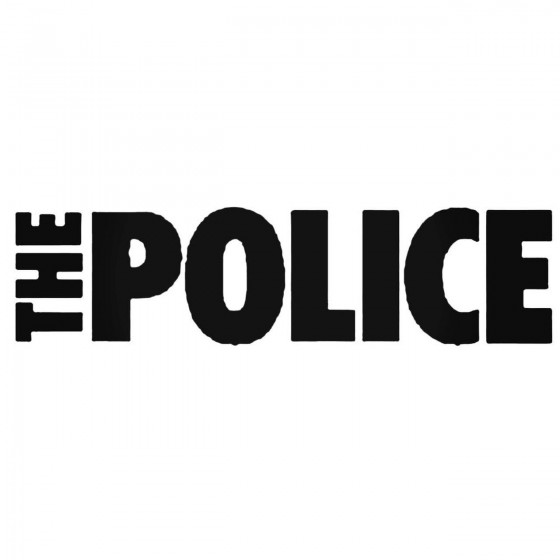 Police Decal Sticker