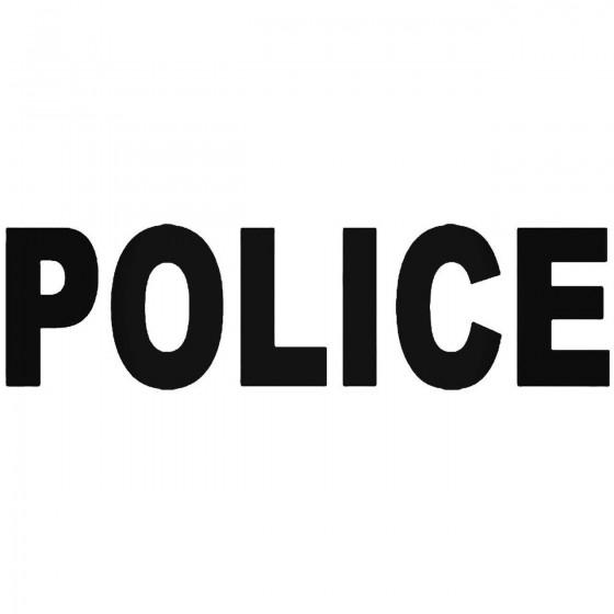 Police Vinyl Decal Sticker