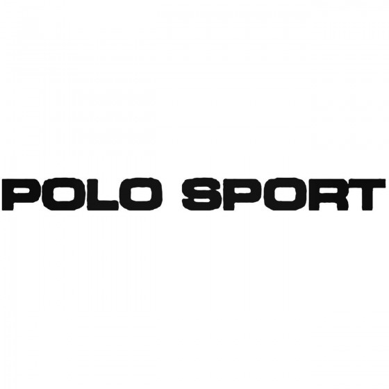 Polo Sport Vinyl Decal