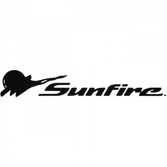Pontiac Sunfire Decal Sticker