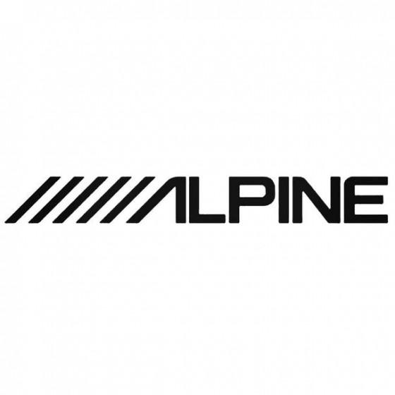 Alpine 1 Decal Sticker