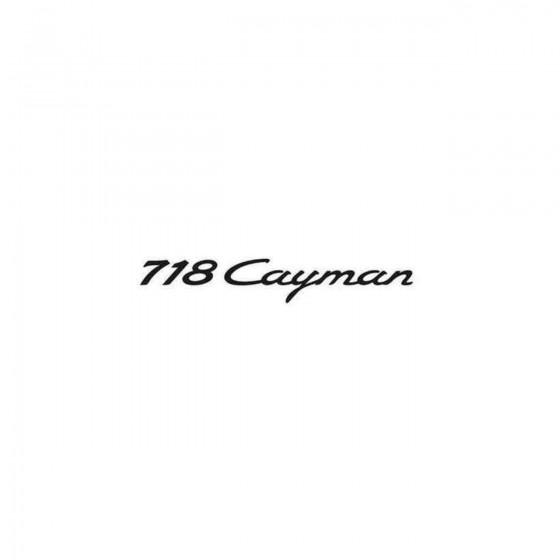 Porsche 718 Cayman Decal...
