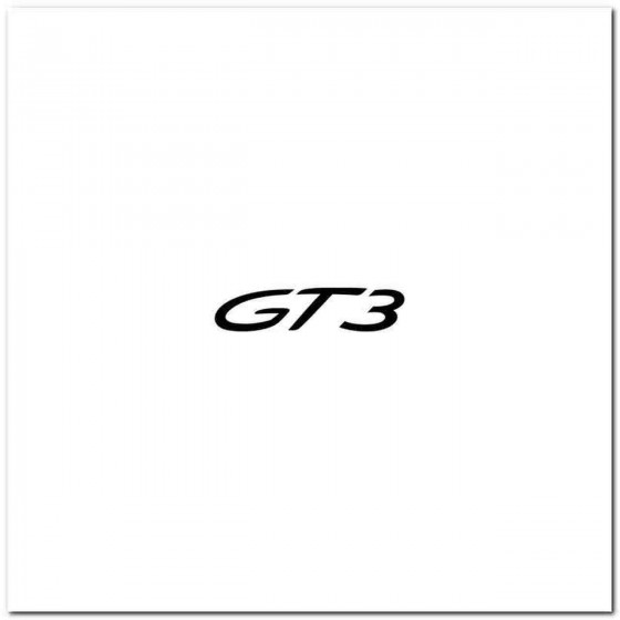 Porsche 911 Gt3 Decal Sticker