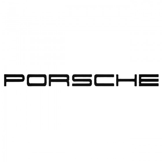 Porsche Aftermarket Decal...