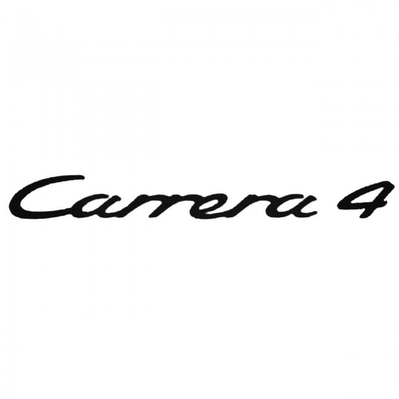 Porsche Carrera 4 Decal...