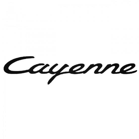 Porsche Cayenne Decal Sticker