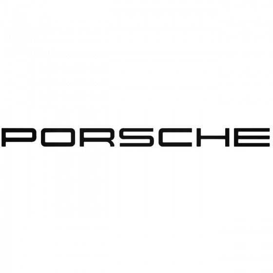 Porsche Decal Sticker