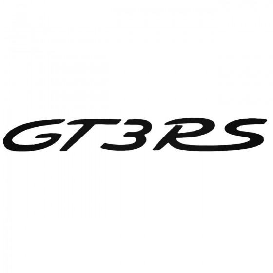 Porsche Gt3 Rs Decal Sticker