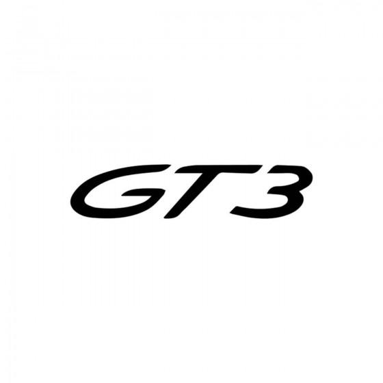 Porsche Gt3 Vinyl Decal...