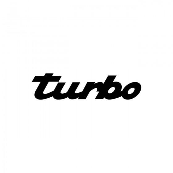 Porsche Turbo Vinyl Decal...