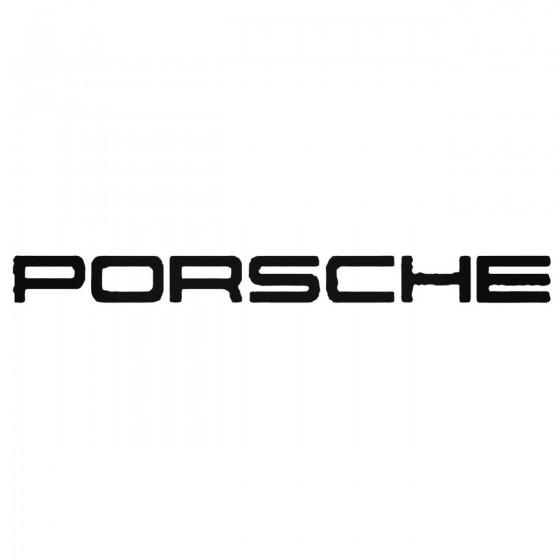Porsche Wide Logo Decal...