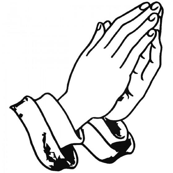 Praying Hands 2 Vinyl Decal...