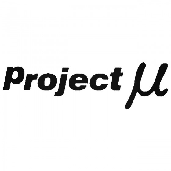 Project Mu Decal Sticker