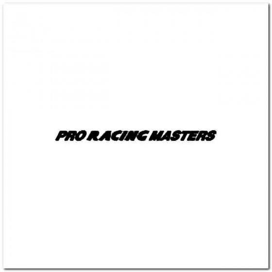 Pro Racing Masters Vinyl Decal
