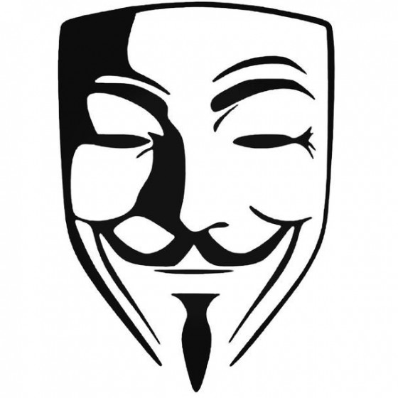 Anonymous 1 Decal Sticker