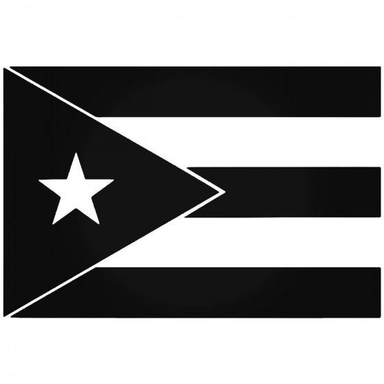 Puerto Rico Flag Vinyl...