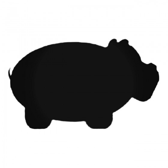 Puffy Hippopotamus Decal...