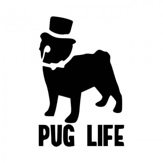 Pug Life Design Vinyl Decal...