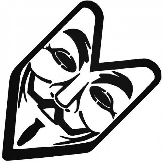 Anonymous 2 Decal Sticker