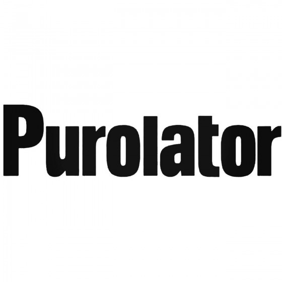 Purlator Graphic Decal Sticker