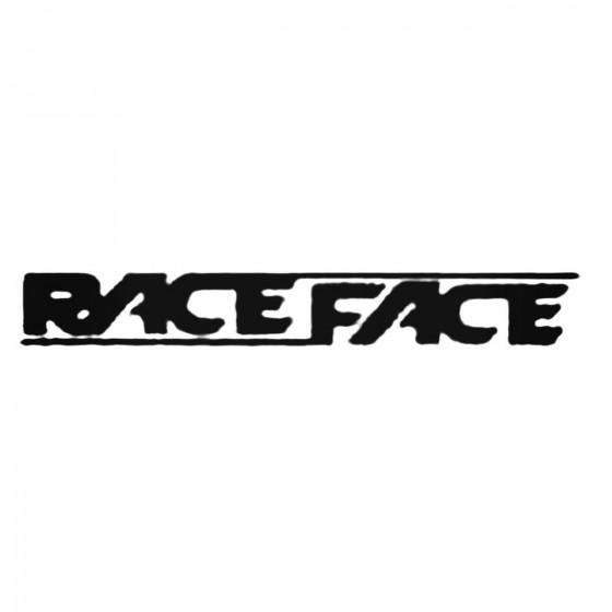 Race Face Decal Sticker