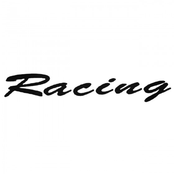 Racing Style 7 Decal Sticker
