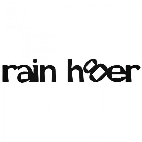 Rain Hater Jdm Decal Sticker