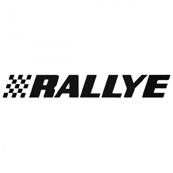 Rallye Decal Sticker