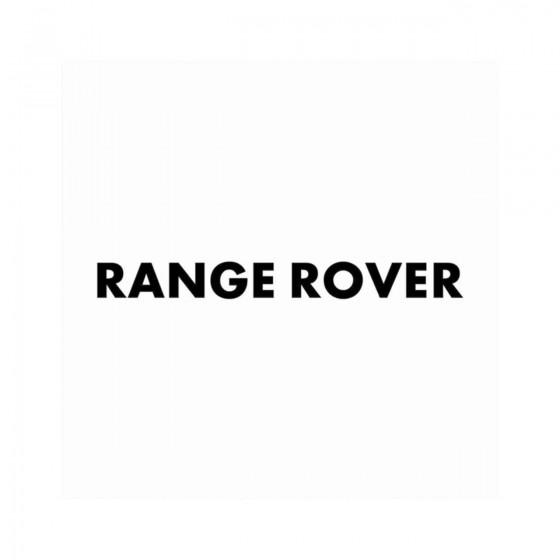 Range Rover Gras Vinyl...