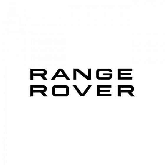 Range Rover Vinyl Decal...