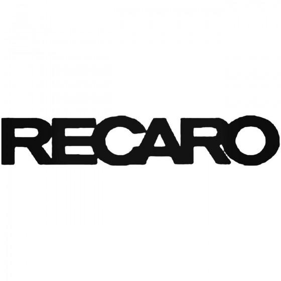 Recaro Vinyl Decal