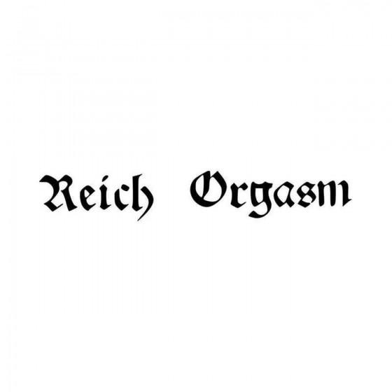 Reich Orgasm Rock Band Logo...