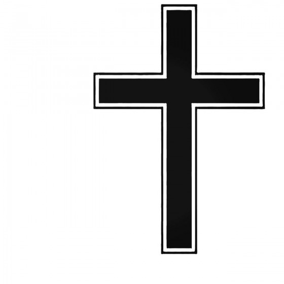 Religious Cross Decal Sticker