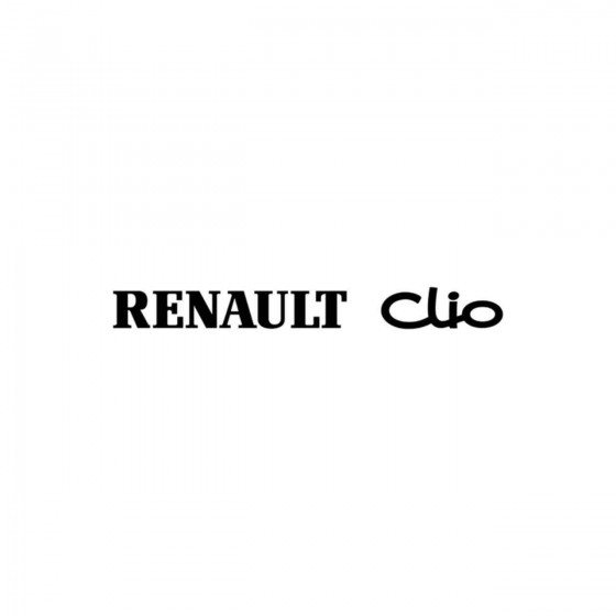 Renault Clio Vinyl Decal...