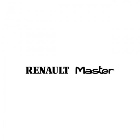 Renault Master Vinyl Decal...