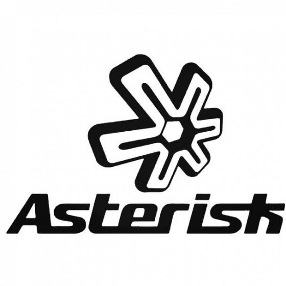 Asterisk 1 Decal Sticker