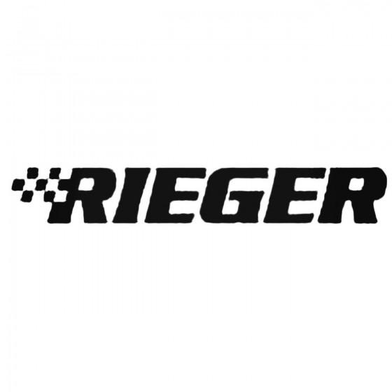 Rieger Decal Sticker